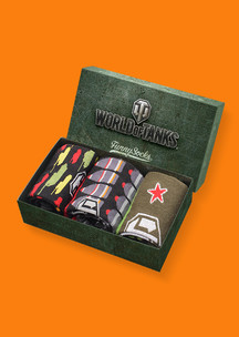 Мужские носки Funny Socks: Набор Закаленная сталь (World of Tanks)